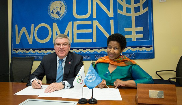 The IOC are to give $600,000 to a UN Women project aimed at boosting gender equality ©IOC/Ian Jones