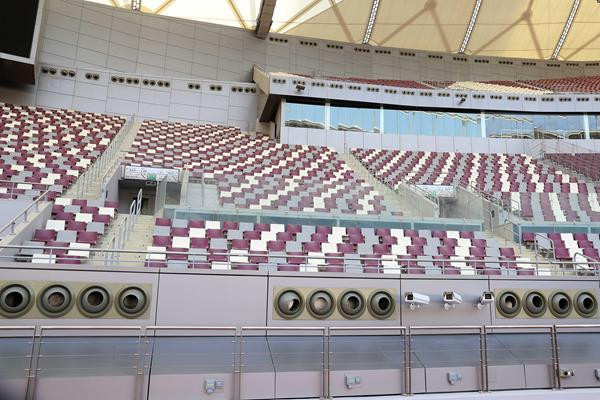 The cooling system at the Khalifa International Stadium in Doha which will host next year's IAAF World Championships ©Doha 2019 LOC