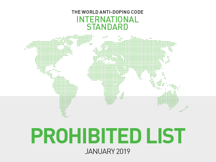 WADA have published the 2019 Prohibited List ©WADA