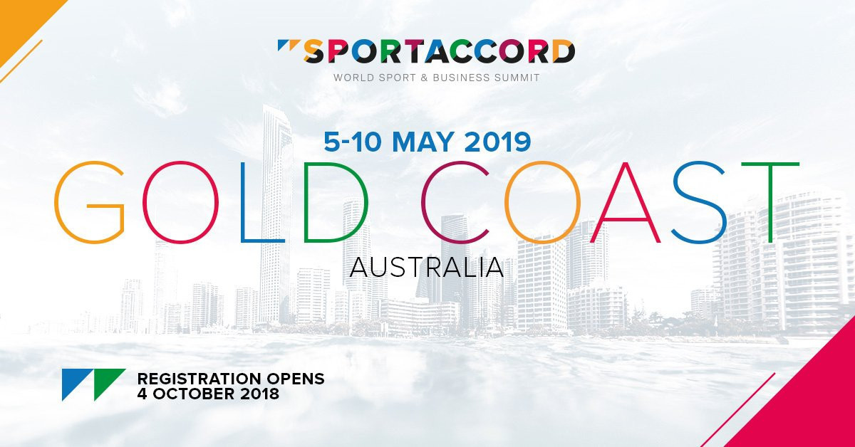 Registration opens for 2019 SportAccord Summit in Gold Coast