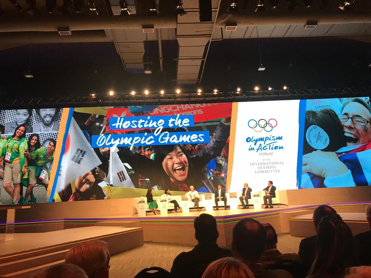 Debate over the IOC's reforms over hosting the Olympic Games were discussed at the Forum ©Twitter