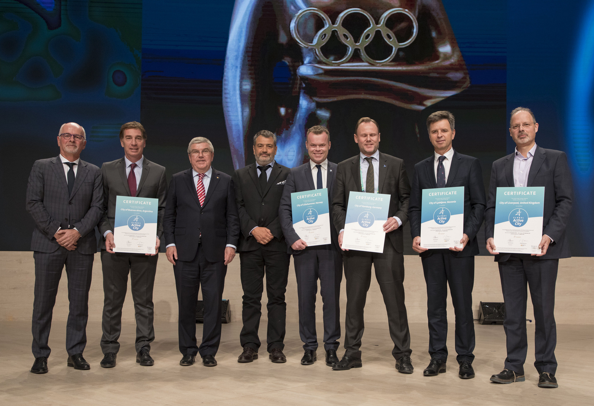 Buenos Aires was one of six winners of the Global Active Cities prize ©IOC