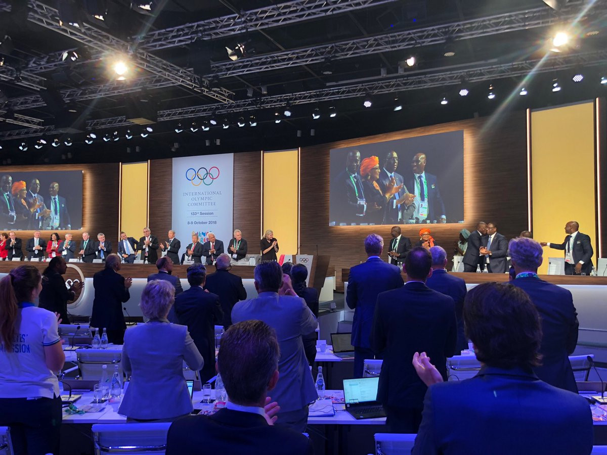 The IOC Session confirmed Senegal as hosts for the 2022 Summer Youth Olympic Games by acclamation ©Twitter