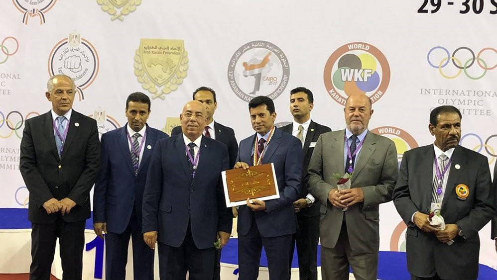 World Karate Federation President Antonio Espinós visited Cairo to attend the Arab Championships ©WKF