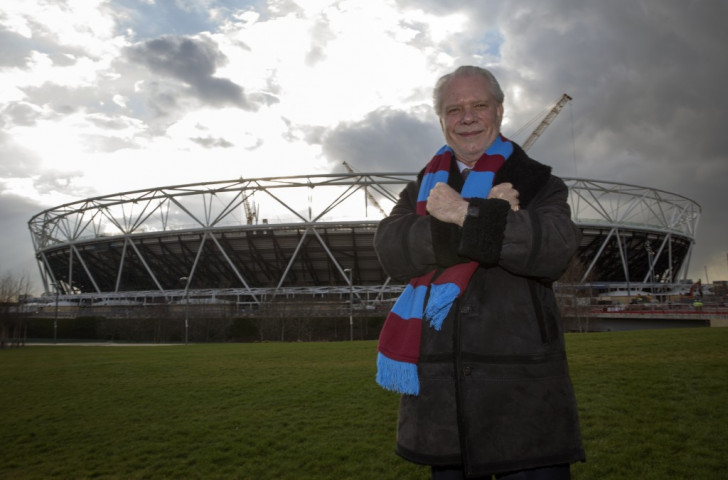 West Ham United, whose chairman David Gold is pictured, were awarded tenancy of the London 2012 Olympic Stadium in 2013