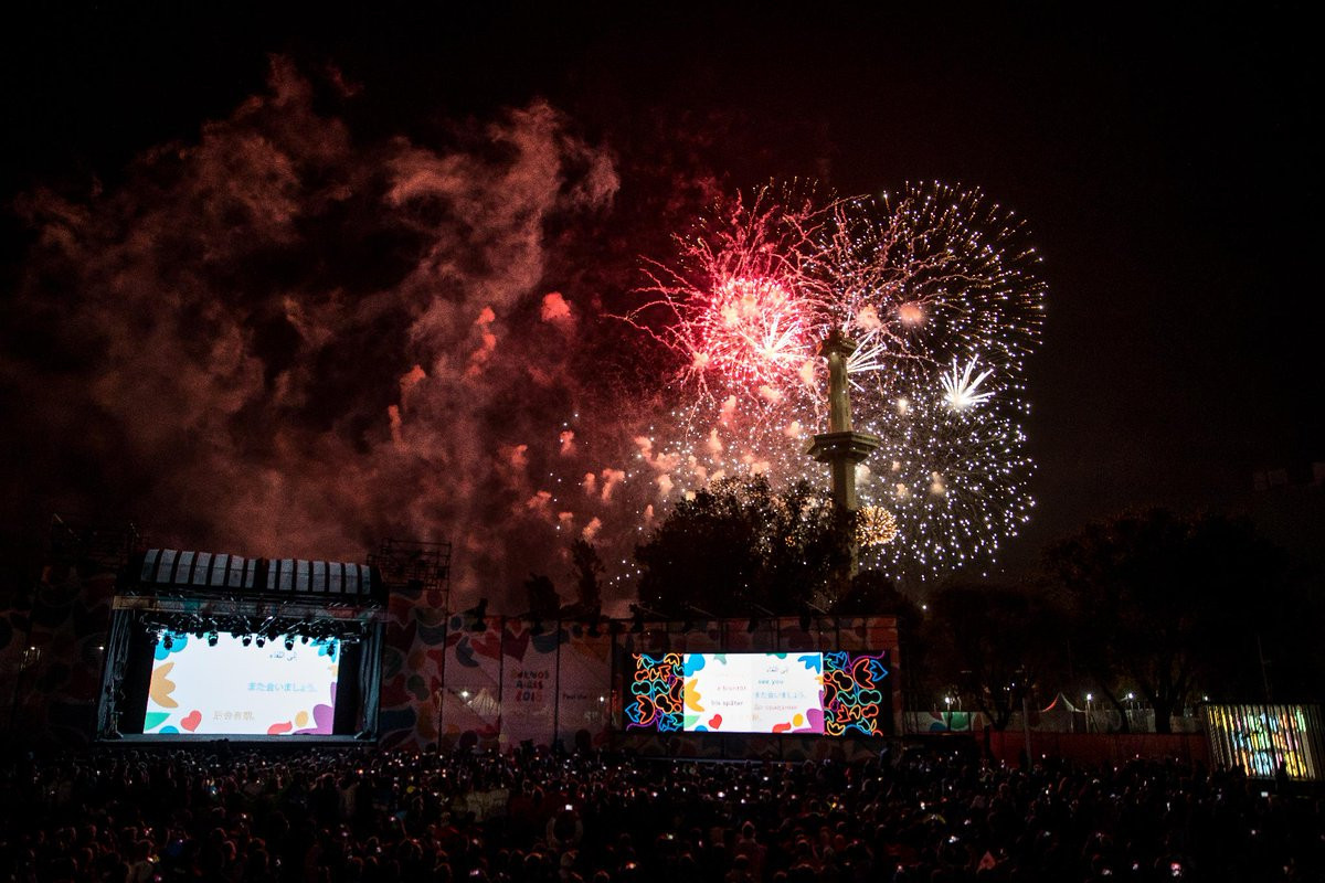Athletes and officials gathered in the Youth Olympic Park for the Closing Ceremony ©Olympic Channel