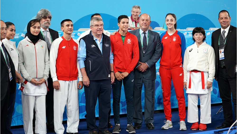 """WKF President says welcoming Bach at Buenos Aires 2018 an """"honour"""""""