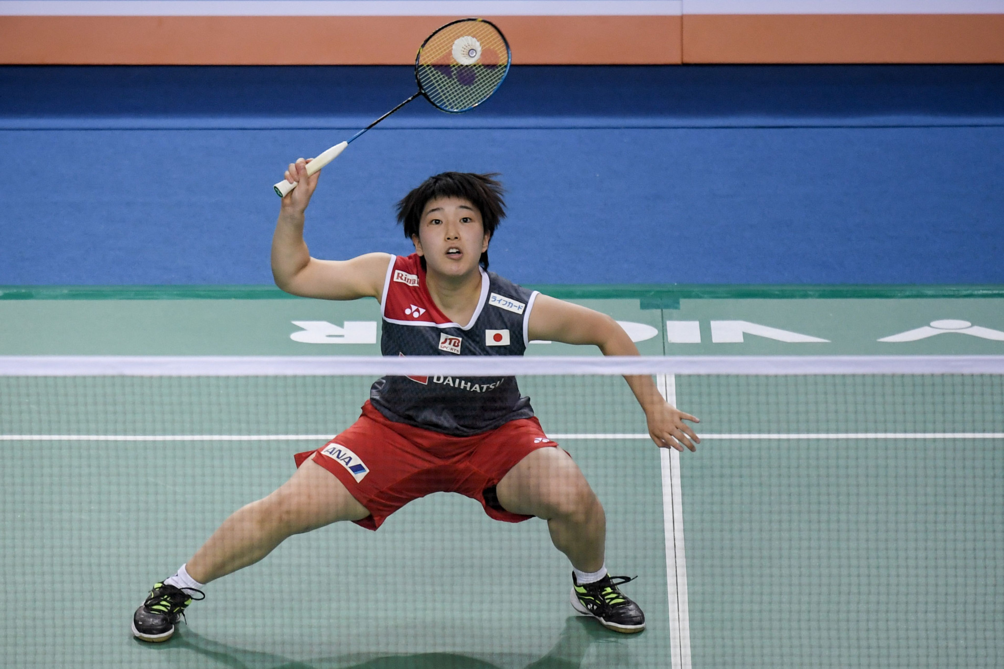 Akane Yamaguchi of Japan beat Tai Tzu Ying of Chinese Taipei to win the final of the BWF French Open in Paris ©Getty Images