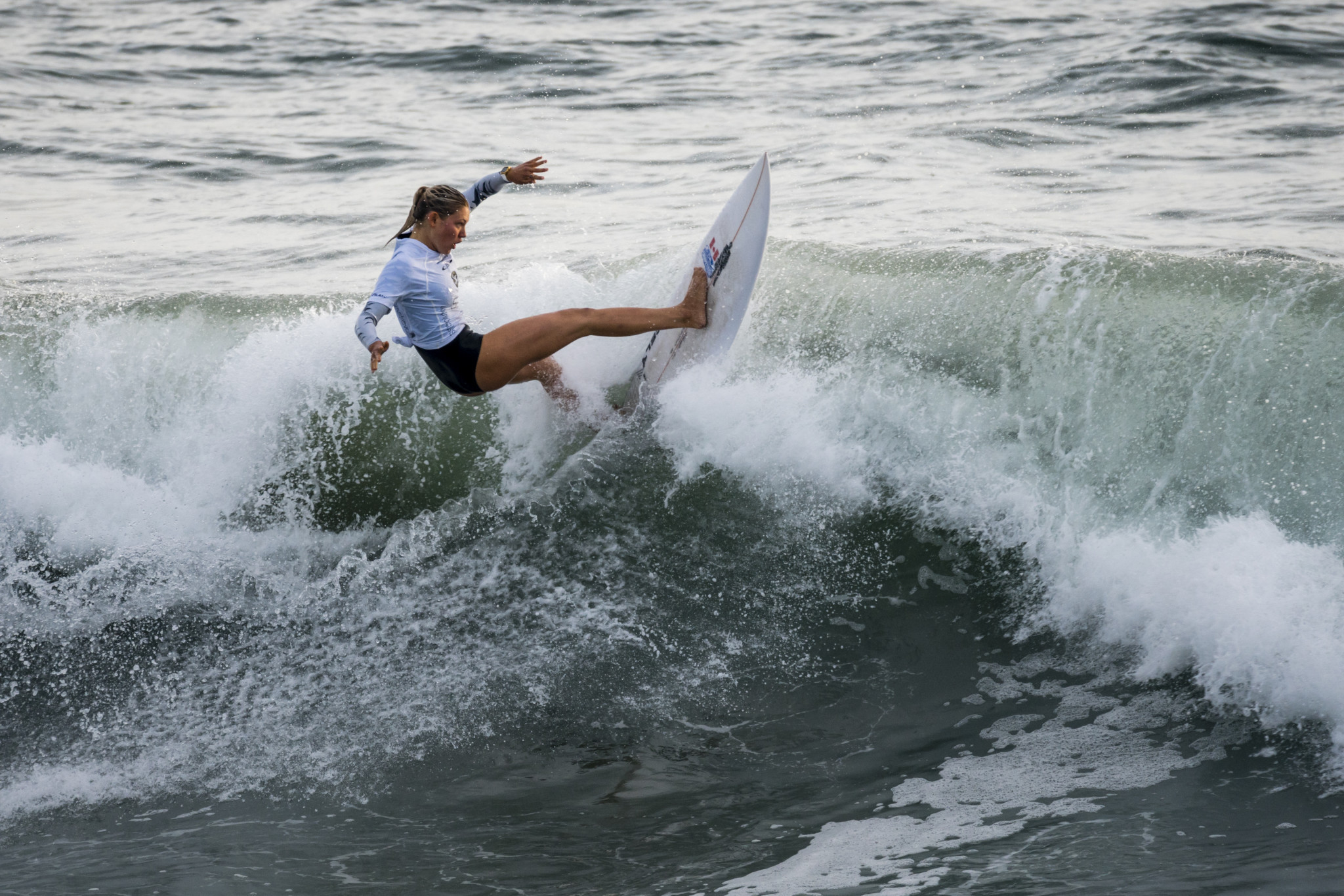 Girls impressed on day two of the ISA World Junior Surfing Championships in Huntington Beach ©ISA