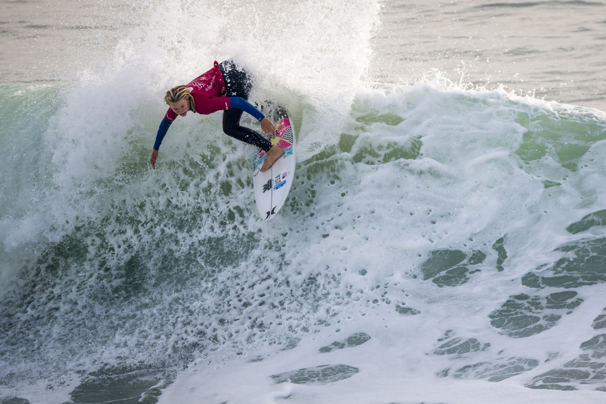 Kirra Pinkerton from the United States was one of today's stand-out performers ©ISA