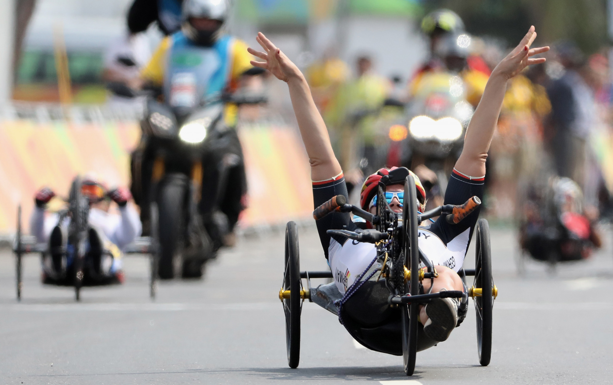 Christiane Reppe of Germany had won cycling gold at the Rio 2016 Olympics before switching to the Para triathlon ©Getty Images