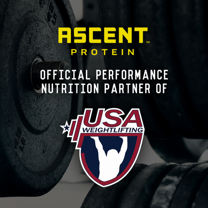 Ascent Protein has become the official performance nutrition partner of USA Weightlifting ©USA Weightlifting