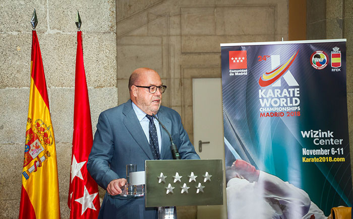 WKF President Antonio Espinós said the event would provide the perfect prelude to Tokyo 2020 ©WKF