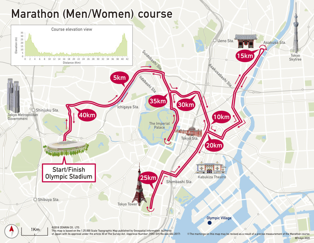 The marathons at Tokyo 2020 are due to start at the new Olympic Stadium at 7.00am but Japanese doctors want them to begin at 5.30am to try to avoid the risk of heatstroke ©Tokyo 2020