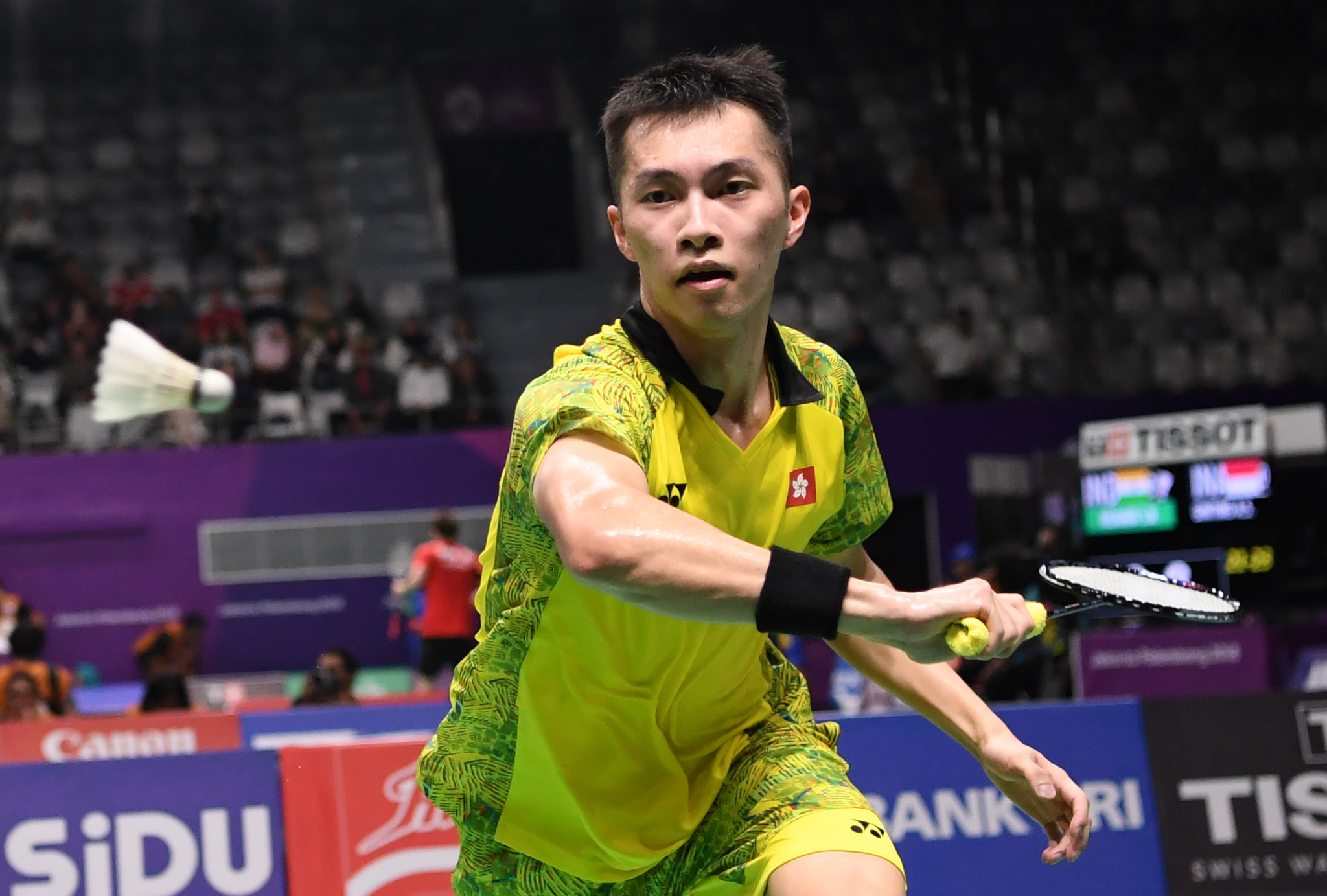 Men's top seed Ng Ka Long breezed through his first round encounter as singles action began at the Badminton World Federation Macau Open ©Getty Images
