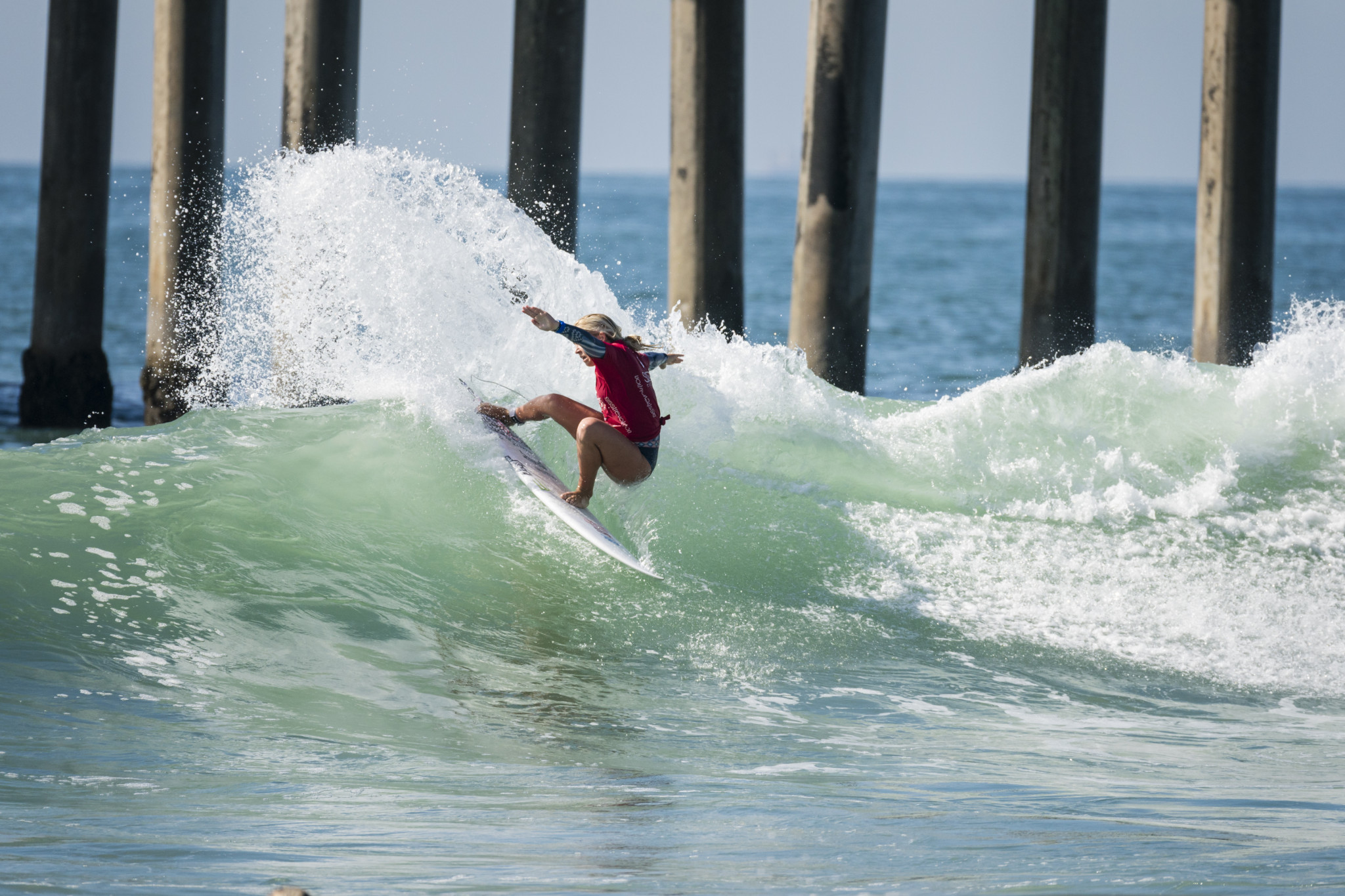 Hawaii's Gabriela Bryan was the stand out performer among the girls today ©ISA/Ben Reed