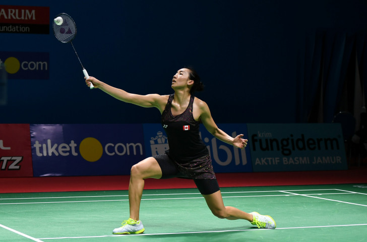 Canada's top seed Michelle Li is safely through to the semi-fnals at the Badminton World Federaton Macau Open ©Getty Images