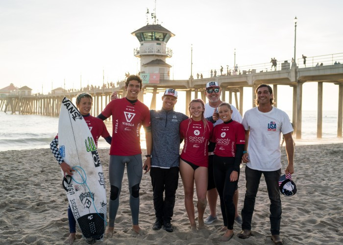 The United States team regained its lead in the ISA World Junior Surfing Championships in California and also won the Aloha Cup ©ISA