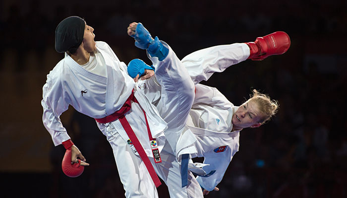 The women's under-61 kumite competition is expected to be among the most fiercely contested divisions at the 2018 event ©WKF