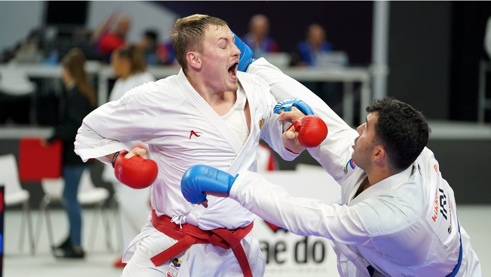 The men's under-84kg category provided the highest drama on day one of the Karate World Championships ©WKF
