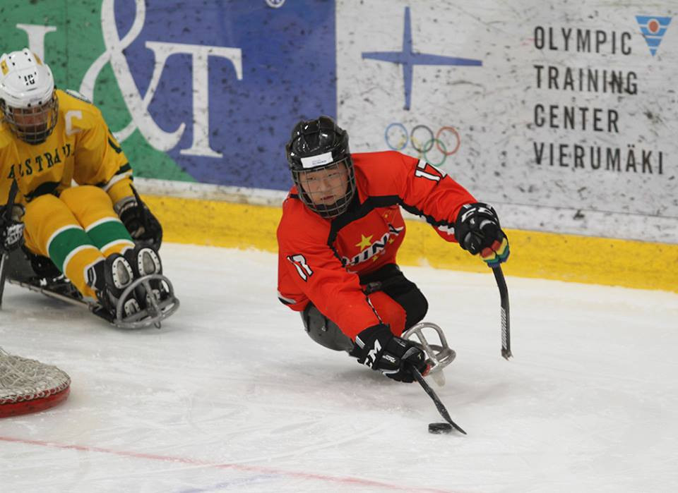 China marked their international debut with a comfortable win over Australia in the World Para Ice Hockey Championships C-Pool ©Twitter/Para Ice Hockey