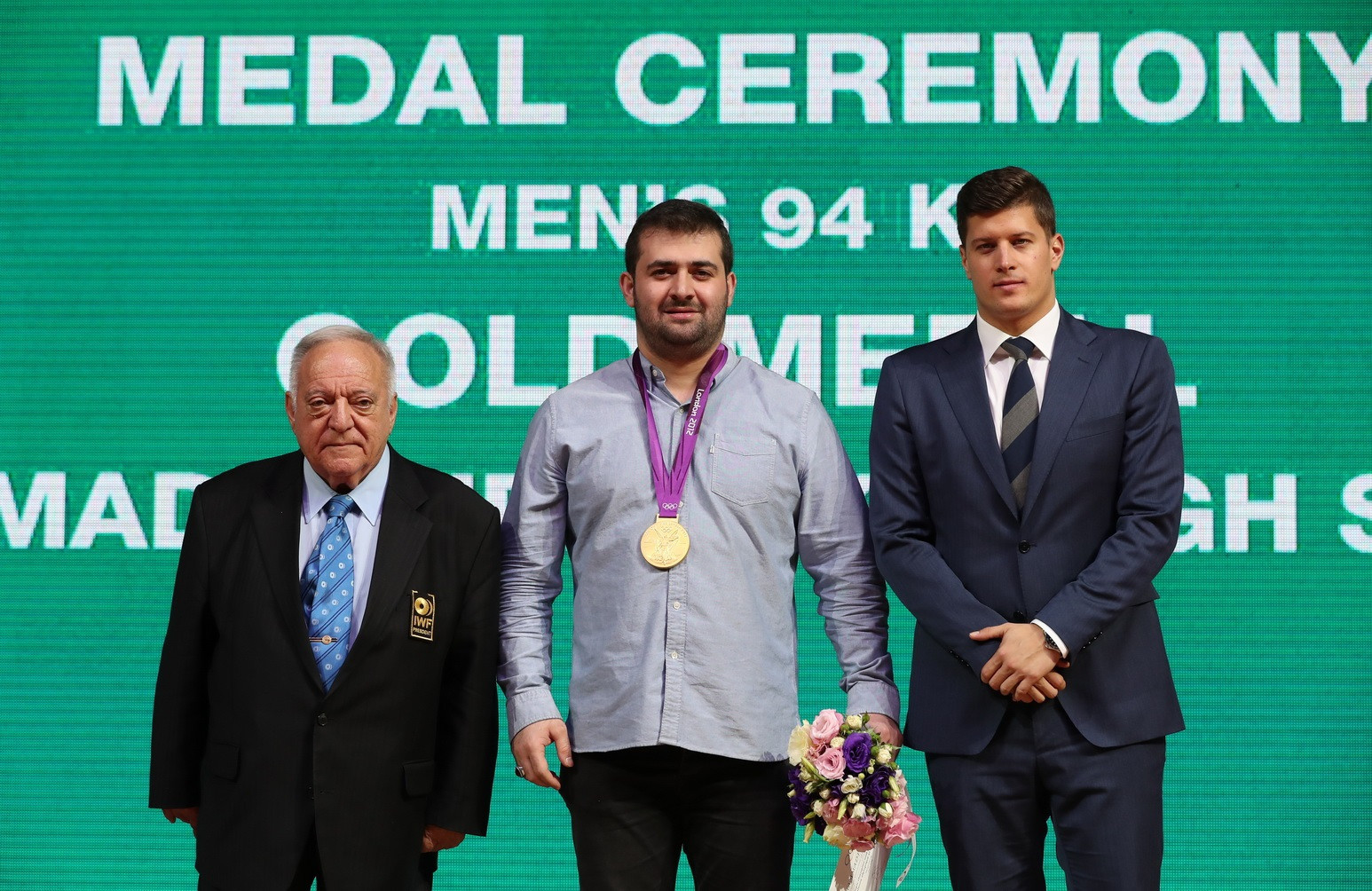 Iran's Saeid Mohammadpour has retrospectively received the gold medal from the notorious men's 94 kilograms weightlifting event at the London 2012 Olympic Games ©IWF