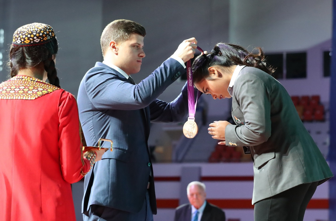 Thailand's Siripuch Gulnoi received the women's 58kg bronze medal from London 2012 retrospectively ©IWF