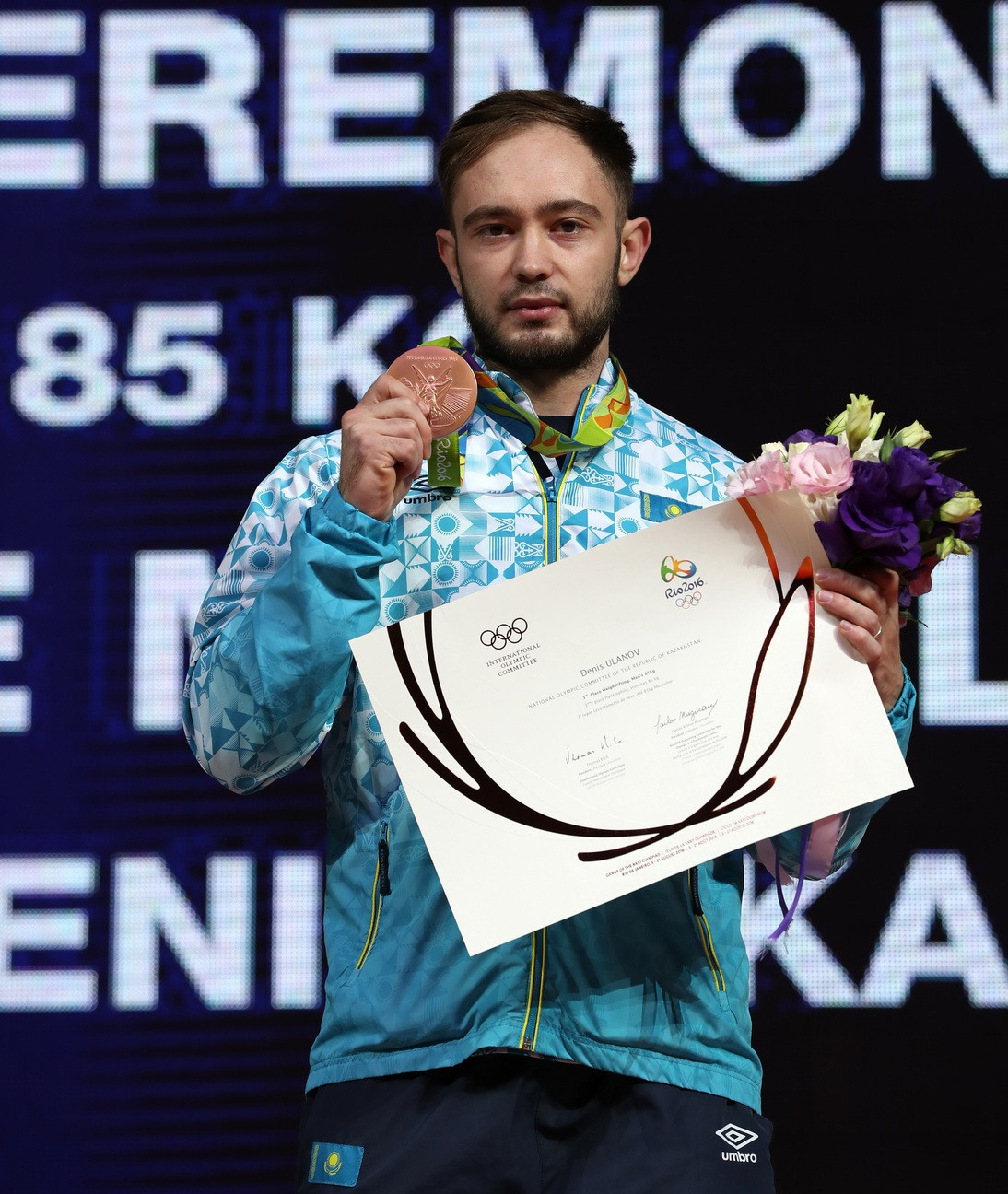 Kazakhstan's Denis Ulanov was promoted to the bronze medal in the men's 85kg category from the Rio 2016 Olympics ©IWF