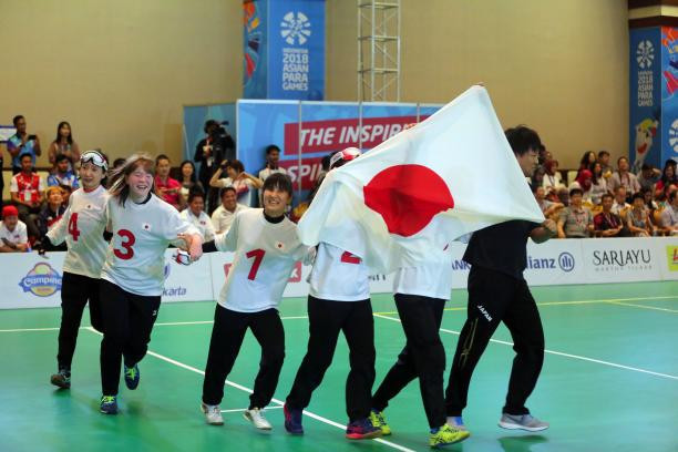 The Japanese women's goalball team has won the International Paralympic Committee Allianz Athlete of the Month award for October after claiming a first-ever Asian Para Games title ©ANAPGOC