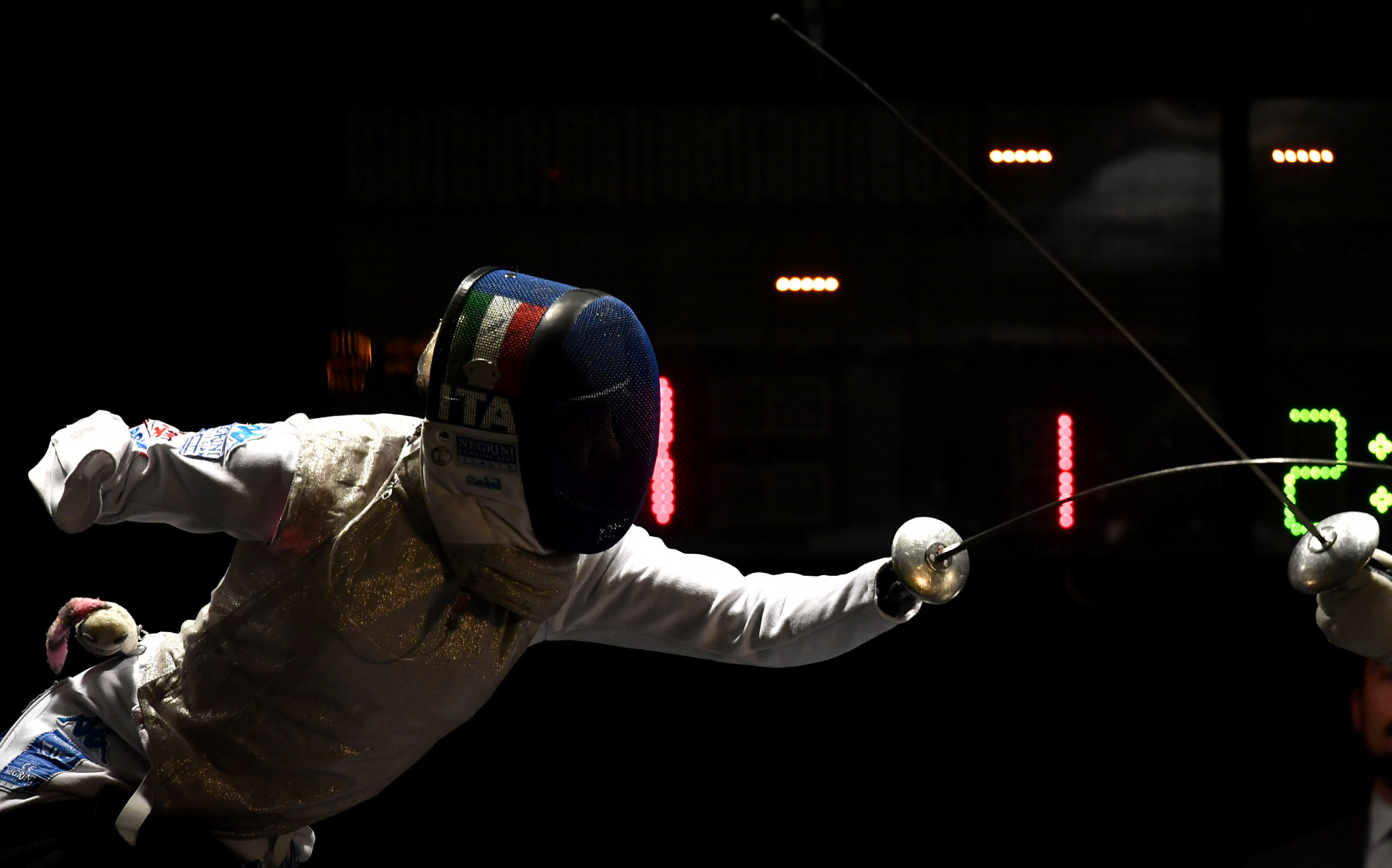 Bebe Vio of Italy won gold at the Wheelchair Fencing World Cup in Tbilisi ©Getty Images
