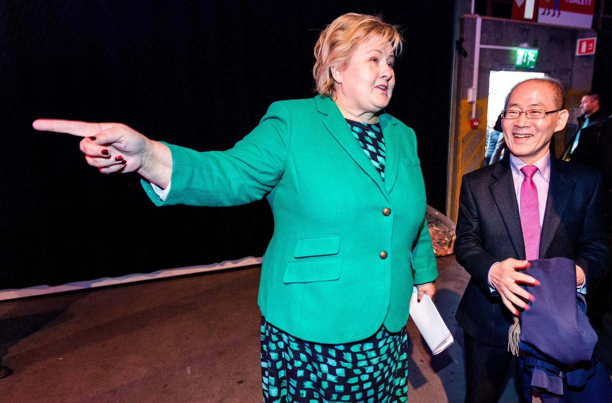 Norwegian Prime Minister Erna Solberg has declared her full support for Linda Helleland's Presidential bid ©Getty Images