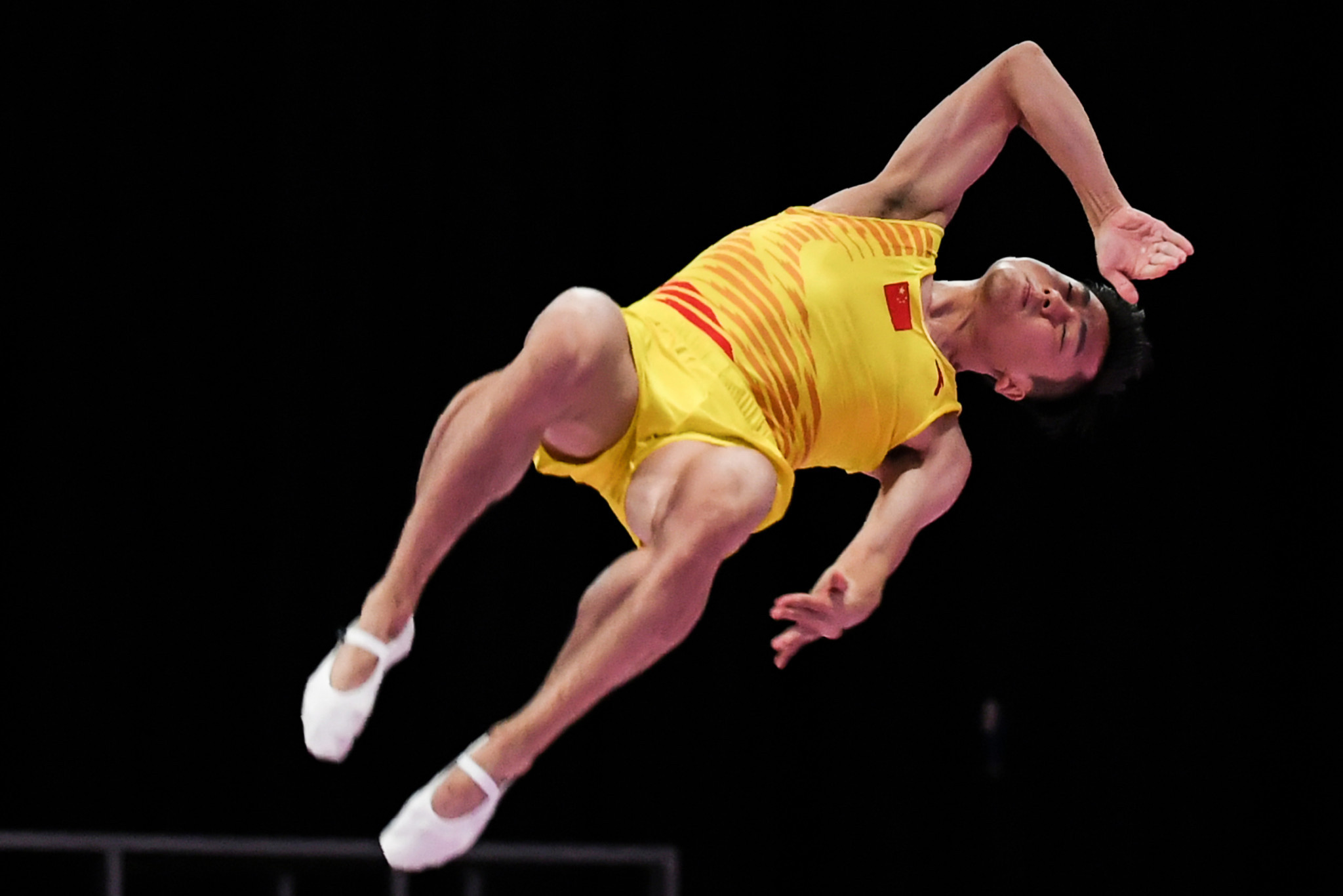 Gao Lei won the men's trampoline title ©Getty Images