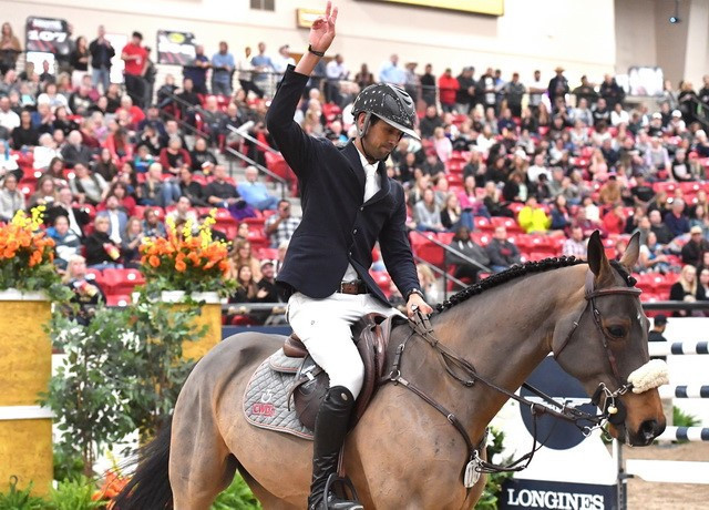 Egypt's Nayel Nassar made it back-to-back victories at the International Equestrian Federation Jumping World Cup ©FEI