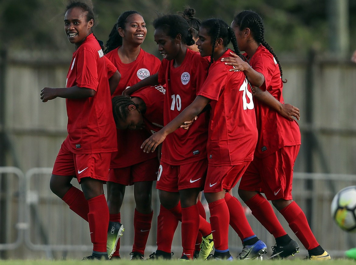 Hosts New Caledonia beat Tahiti 4-2 on the opening day of the OFC Women's Nations Cup ©OFC