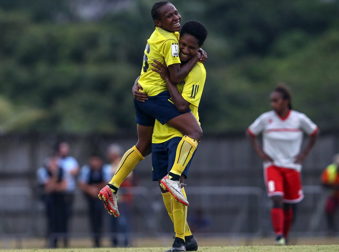 Papua New Guinea beat hosts New Caledonia 6-2 today to make it two wins out of two in Group A at the Oceania Football Confederation Women's Nations Cup ©OFC via Phototek