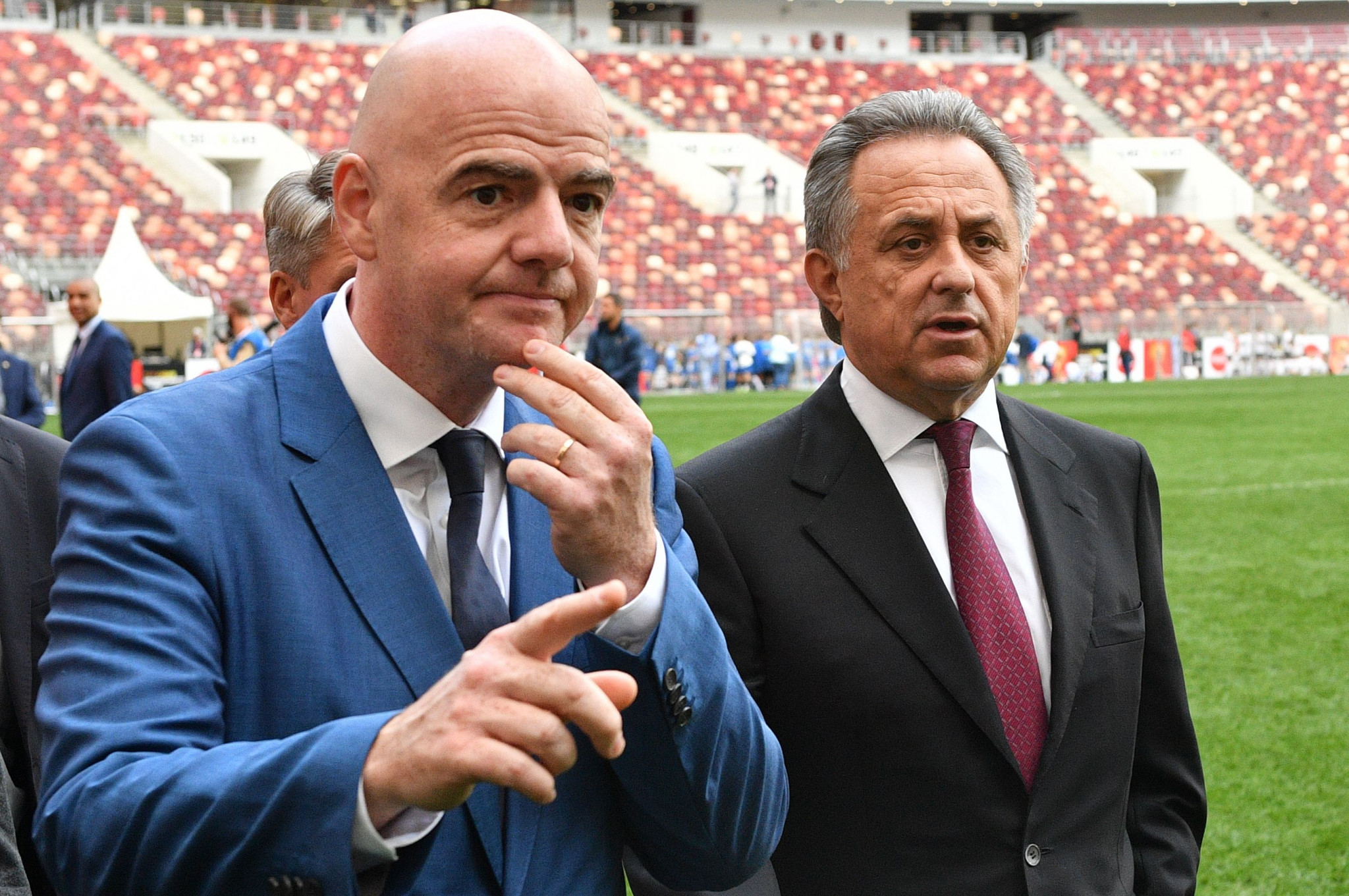 Vitaly Mutko has taken part in a meeting to back Gianni Infantino's bid to be re-elected as President of FIFA in what appears to confirm his return to the position of the head of the Russian Football Union ©Getty Images