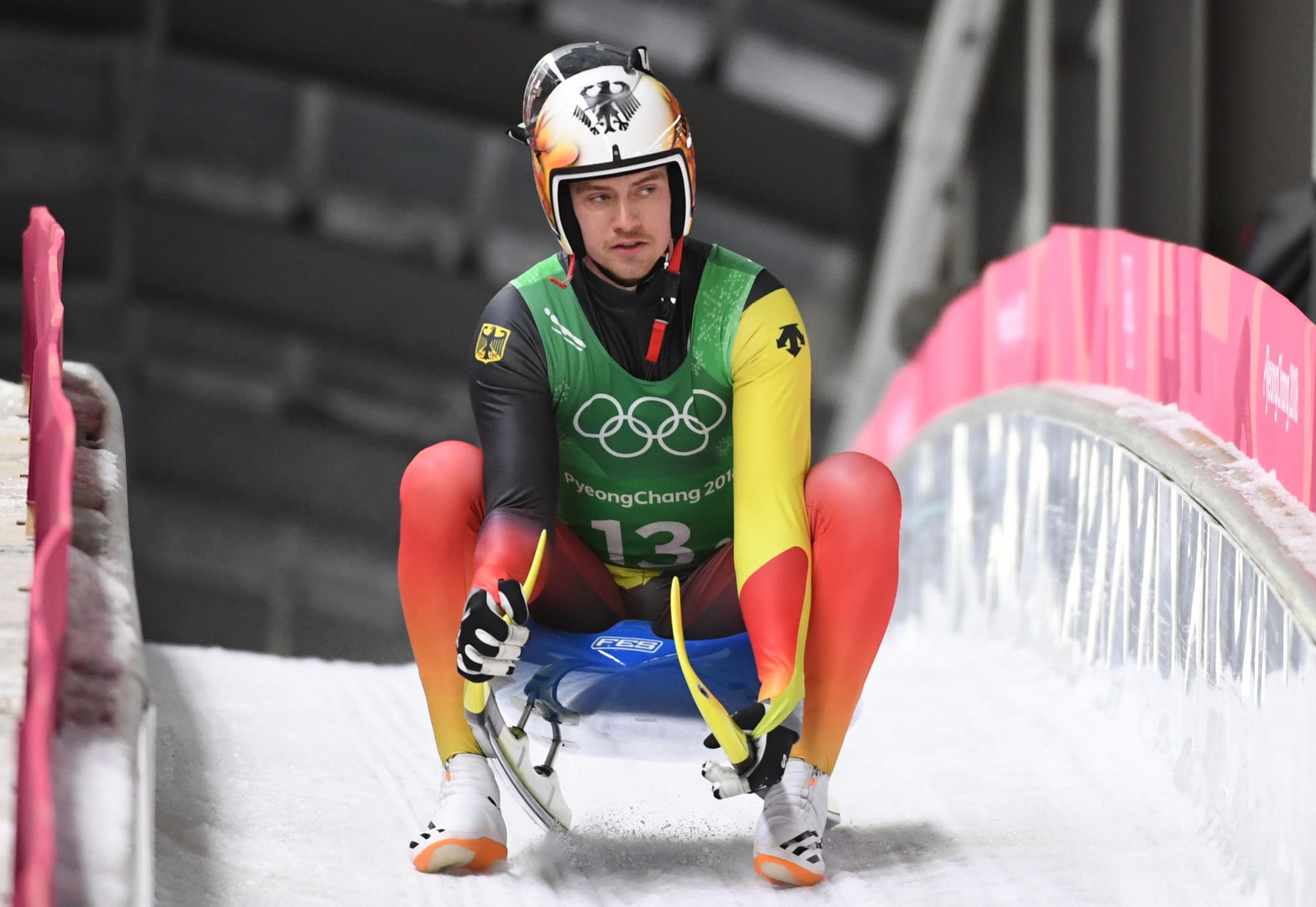 Olympic champion finishes off podium at home Luge World Cup