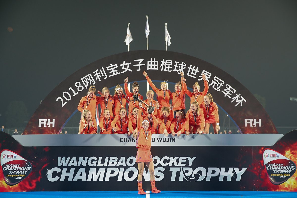The Netherlands took their seventh FIH Women's Hockey Champions Trophy title and first since 2011 in China ©FIH
