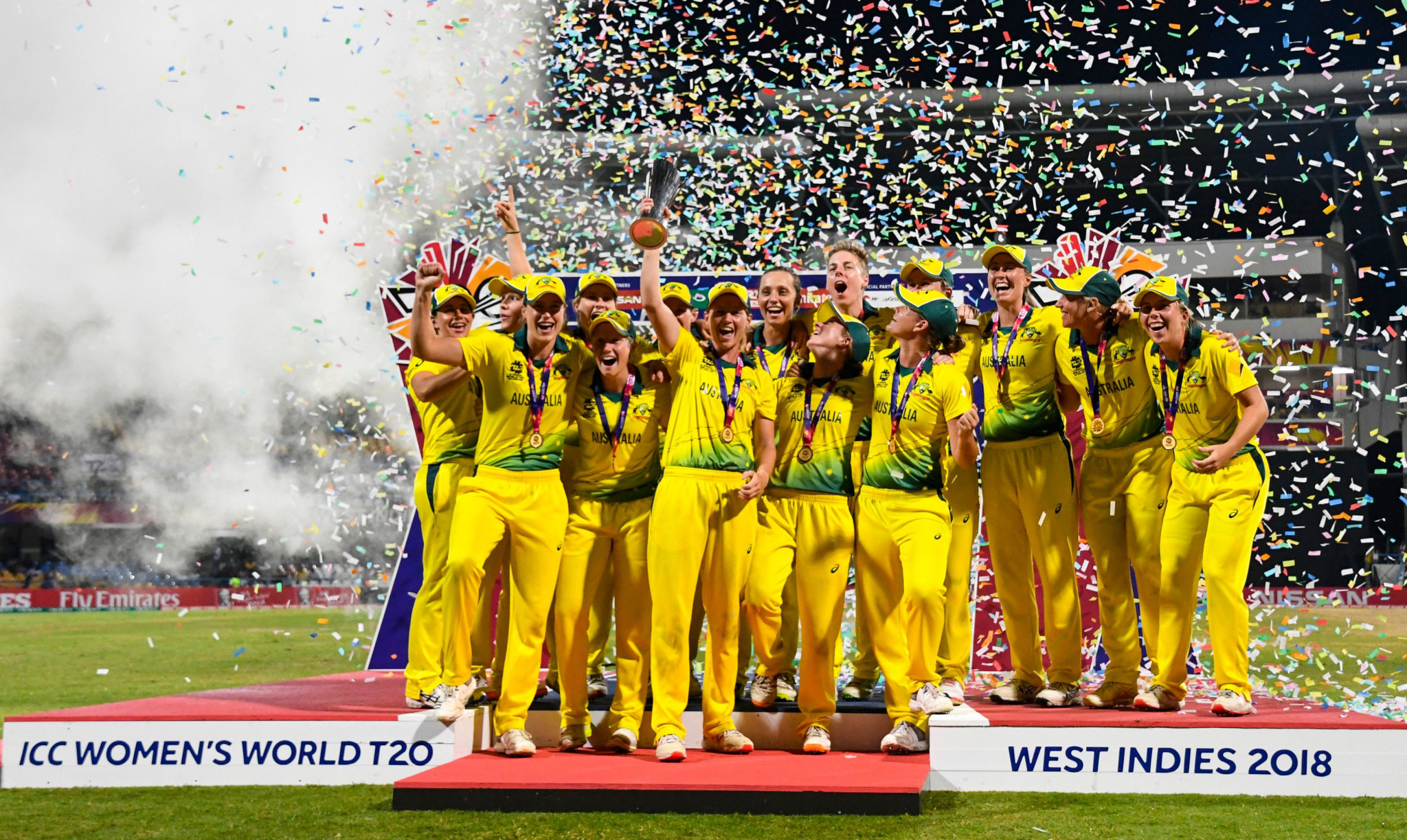 The announcement coincided with the end of the Women's World Twenty20 in the West Indies ©Getty Images