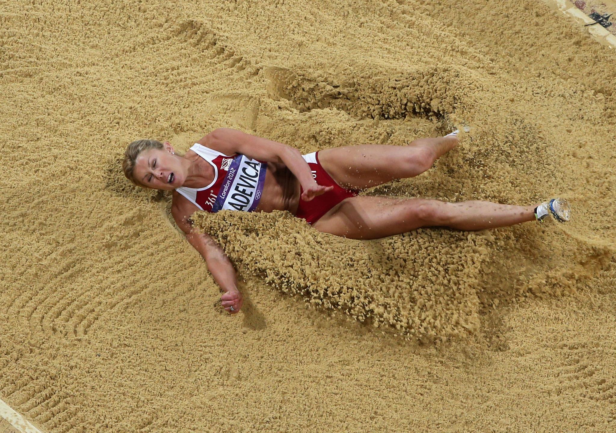 Retired long jumper Ineta Radevica has resigned as Latvian Athletics Association President following her positive London 2012 retest ©Getty Images