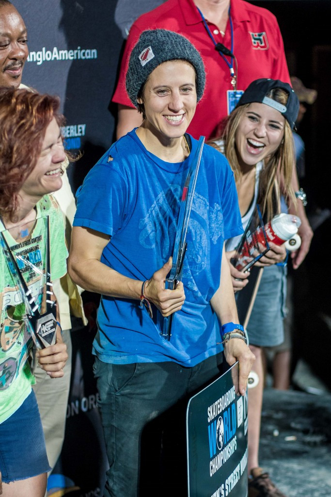 Sablone secures women's street title on opening day of Skateboarding World Championships