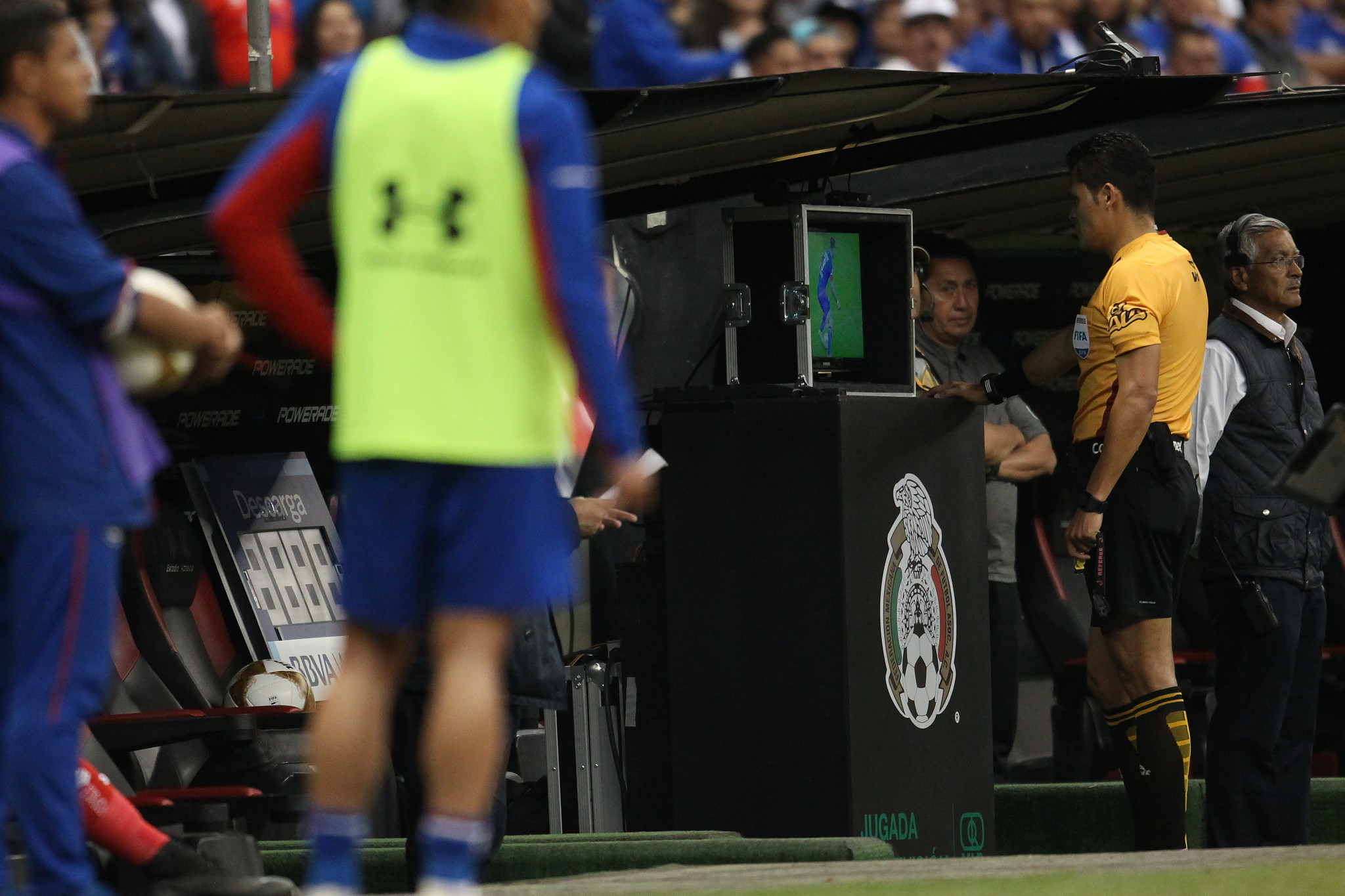 VAR will be introduced for the knockout stages of this season's UEFA Champions League ©Getty Images