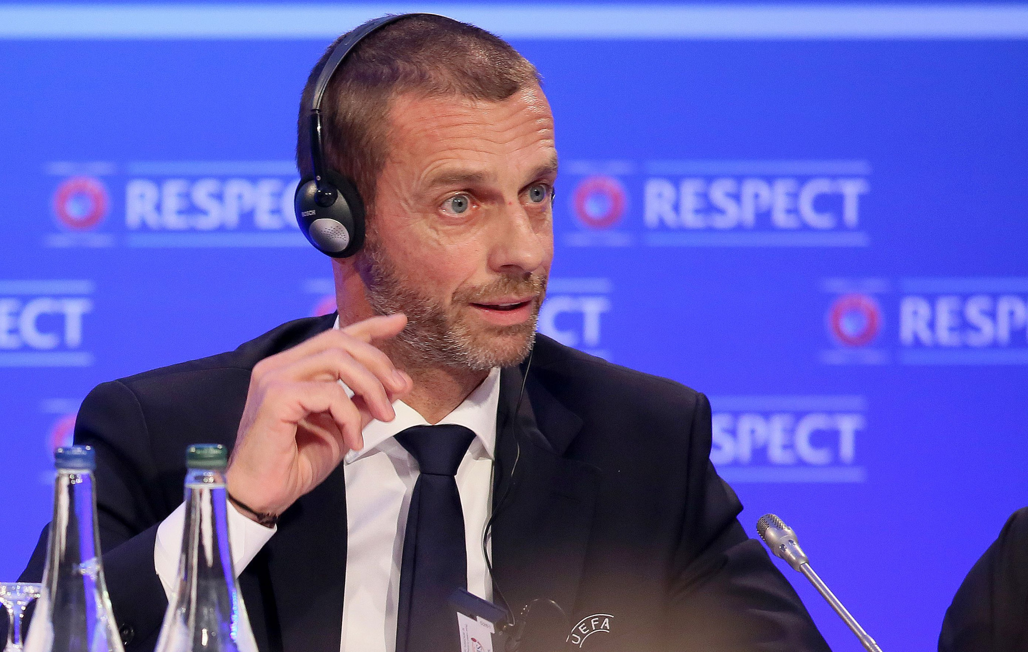 """UEFA President Aleksander Čeferin has said he is """"not in favour"""" of a bid for the 2030 World Cup from Spain, Portugal and Morocco ©Getty Images"""