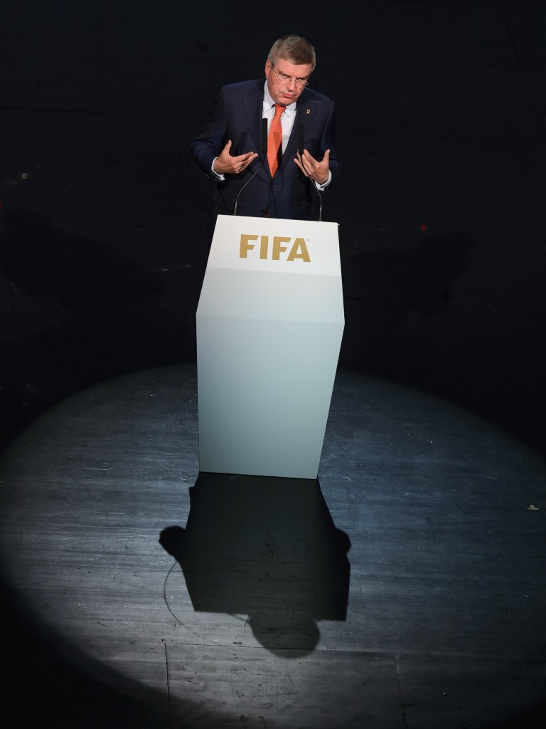 International Olympic Committee (IOC) President Thomas Bach has also called for an external candidate to spearhead reforms at FIFA ©Getty Images
