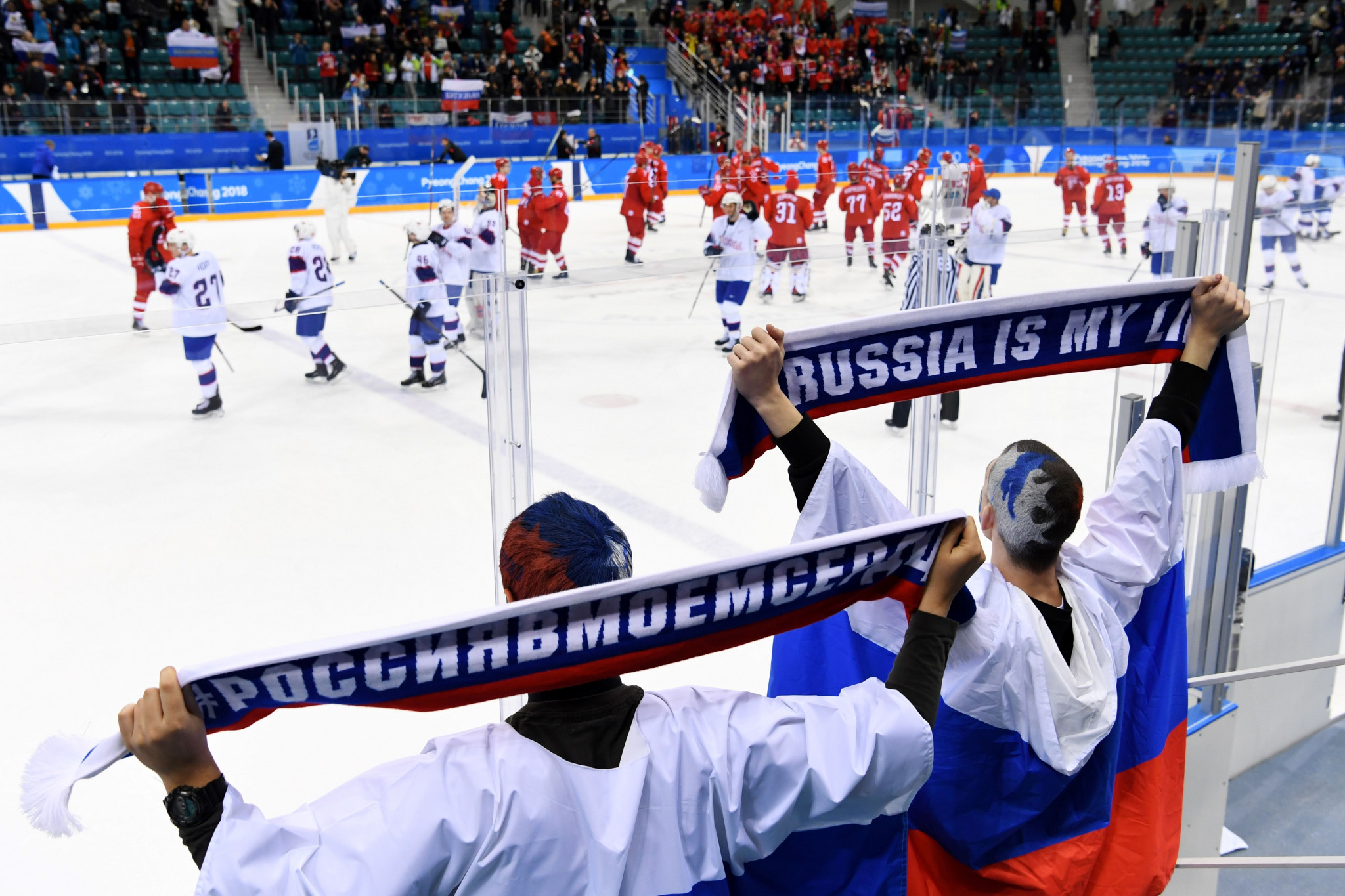 Russia were banned from competing under their own flag at Pyeongchang 2018 ©Getty Images