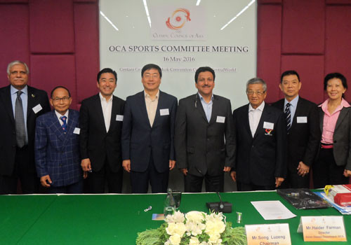 The Sports Committee is responsible for undertaking studies and research, drawing up special plans to raise the sports standards in Asia and preparing sports programmes and courses for the development of coaches, referees, umpires, judges etc. in Asia ©OCA