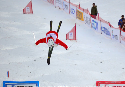 Freestyle was one of five skiing disciplines to feature on the sports programme ©OCA