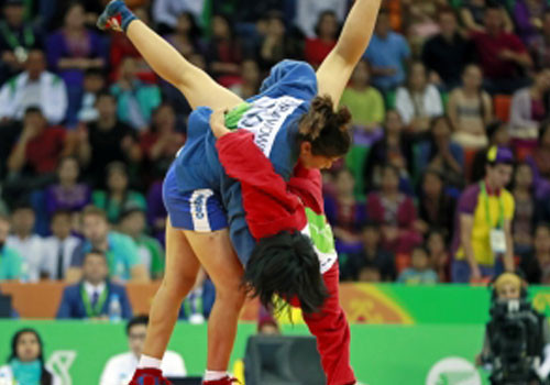 Sambo was among the sports included on the programme ©OCA