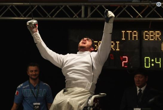 Britain's Dominic Coutya earned a second consecutive bronze at the IWAS Wheelchair Fencing World Cup in Kyoto in the men's foil B category ©ParalympicsGB