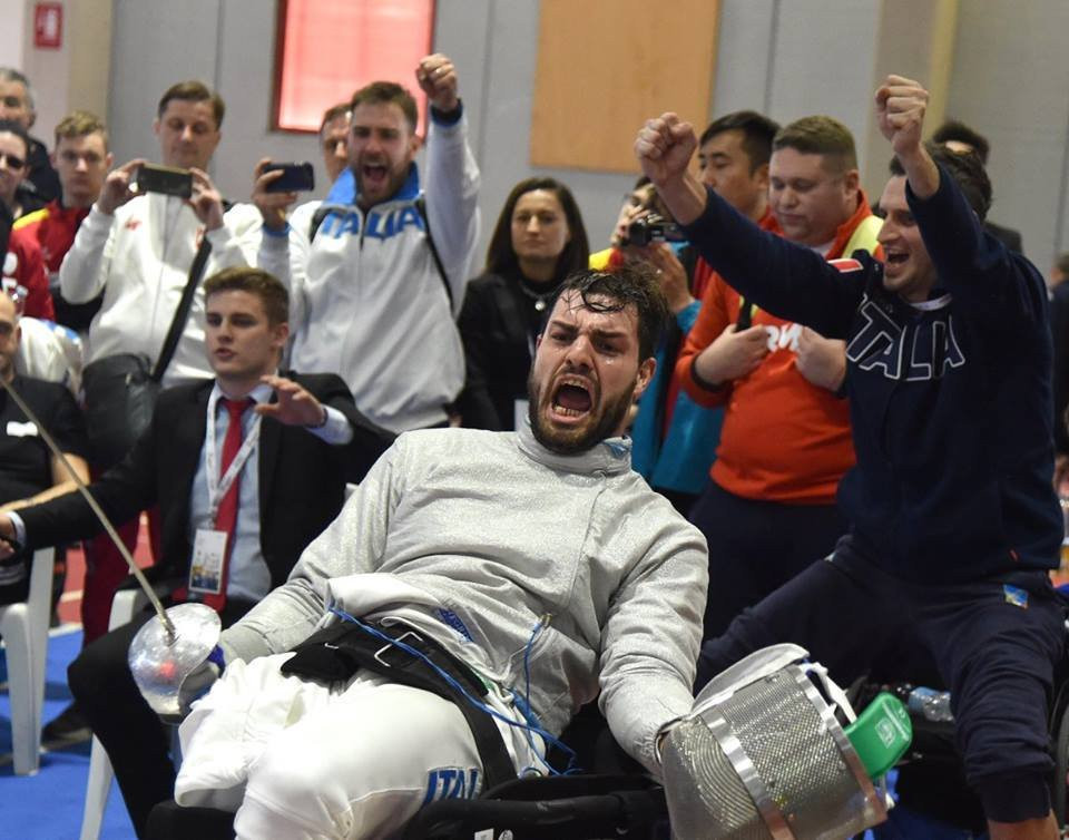 Italy's men won team foil bronze in the IWAS Wheelchair Fencing World Cup in Kyoto after beating France ©Twitter